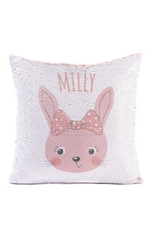Personalised Bunny Sequin Cushion Cover - 256590