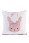 Personalised Bunny Sequin Cushion Cover