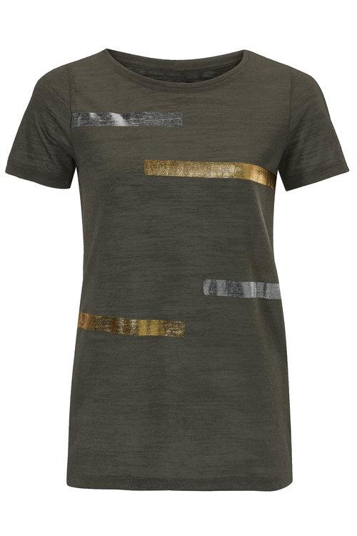 Heine Foil Stripe Top