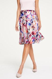 Heine Floral Crinkle Skirt - 256606