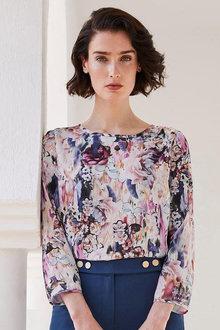 Heine Floral Print Top - 256607