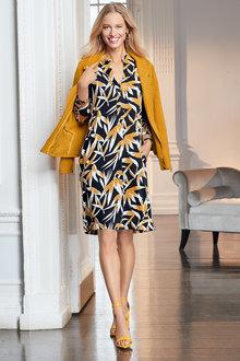 European Collection Yoke Front Dress - 256615