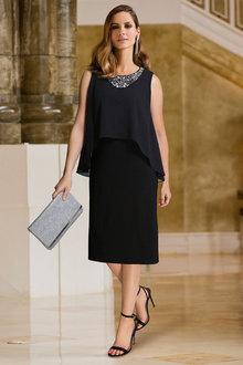 European Collection Beaded Neckline Dress - 256617