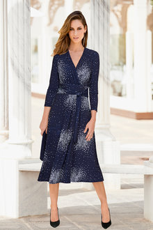 European Collection Spot Print Dress - 256620