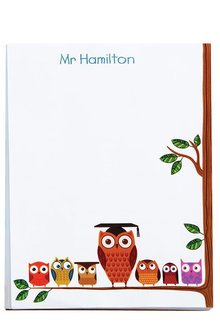 Personalised Teacher's Owl A5 Notepad - 256693