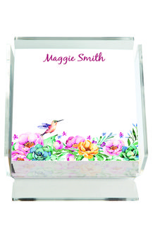 Personalised Hummingbird Memo Block - 256705