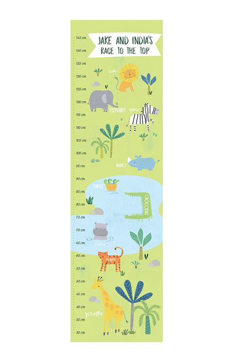 Personalised Safari Growth Chart