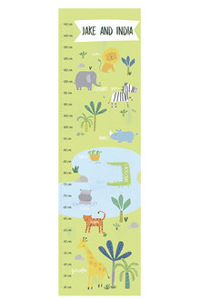 Personalised Safari Growth Chart - 256711