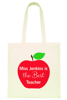 Personalised Teacher's Apple Tote Bag - 256718