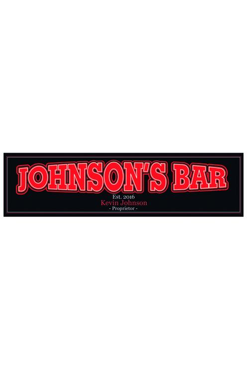 Personalised Proprietor Bar Mat