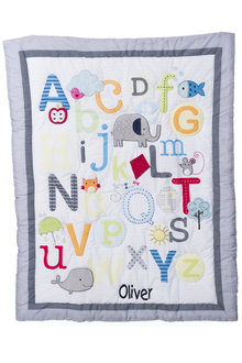 Personalised Alphabet Decorative Quilt - 256722