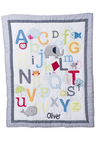Personalised Alphabet Decorative Quilt