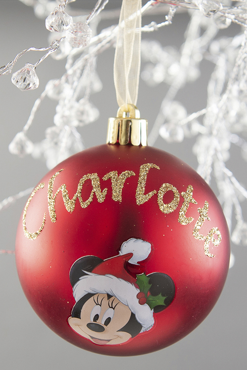 Personalised Minnie Mouse Christmas Bauble