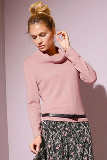 Euro Edit Roll Neck Pullover - 256758