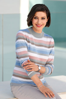 Euro Edit Striped Pullover - 256766