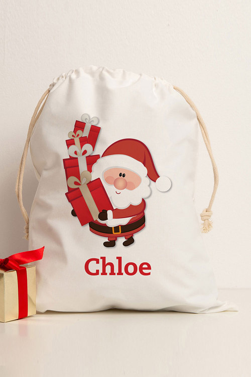 Personalised Delivery From Santa Storage Sack