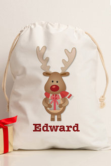 Personalised Reindeer Storage Sack - 256775