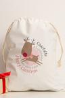 Personalised Christmas Reindeer Canvas Storage Sack