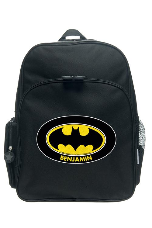 Personalised Batman Logo Large Backpack
