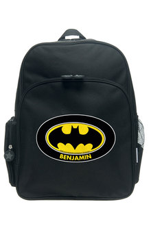 Personalised Batman Logo Large Backpack - 256779