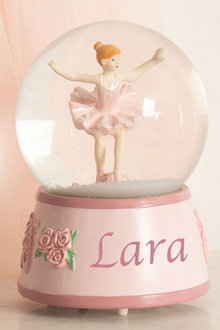 Personalised Ballerina Musical Globe - 256780