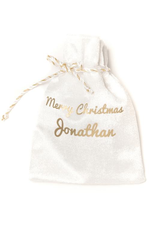 Mini White Christmas Sack
