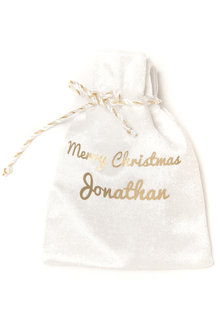 Mini White Christmas Sack - 256790