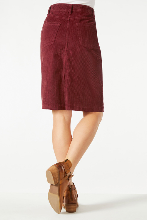 Capture Corduroy Fly Front Skirt