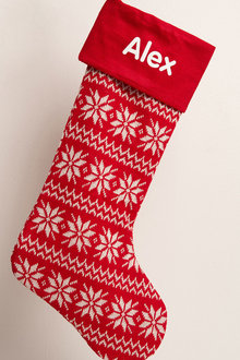 Personalised Knitted Christmas Stocking - 256805