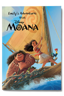 Personalised My Adventures with Moana Book - 256807