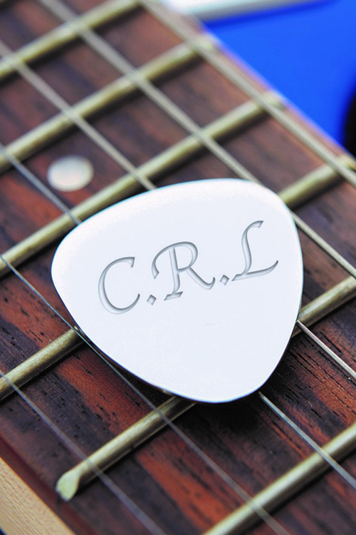 Personalised Silver Plated Guitar Plectrum Set Of 2