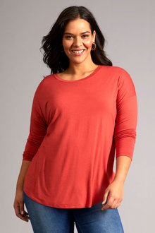 Sara Long Sleeve Round Neck Tee - 256834