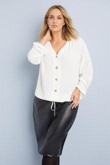 Sara PU Front Skirt - 256840