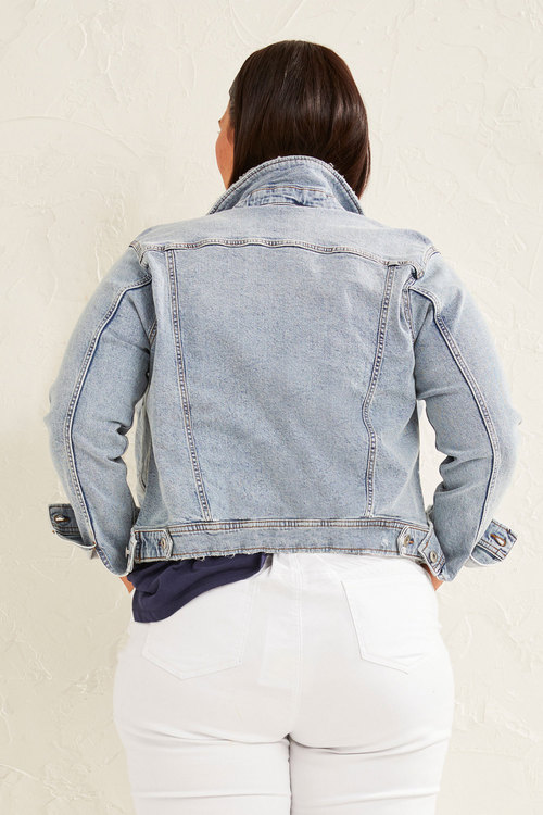 Sara Distressed Denim Jacket