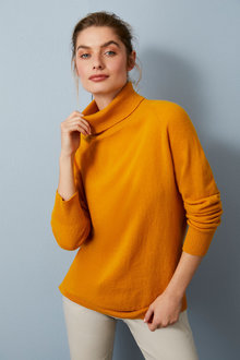 Capture Lambswool Cowl Neck Sweater - 256855