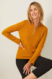 Capture Lambswool Half Zip Sweater - 256856