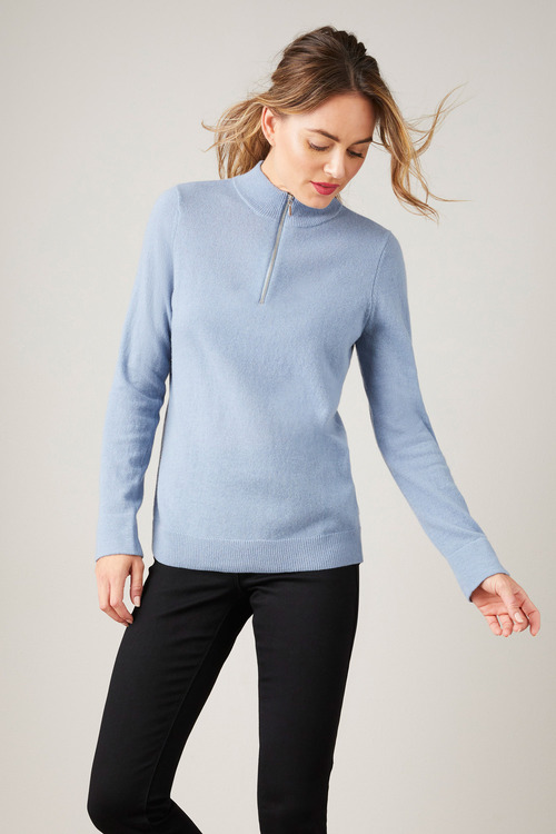 Capture Lambswool Half Zip Sweater