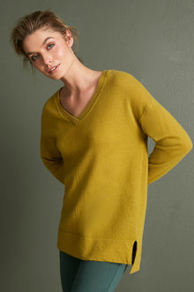 Capture Lambswool Pointelle V Sweater - 256857