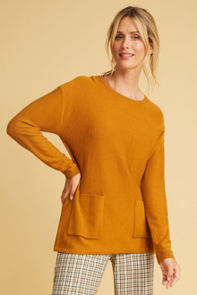 Capture Merino Boxy Pocket Sweater - 256859