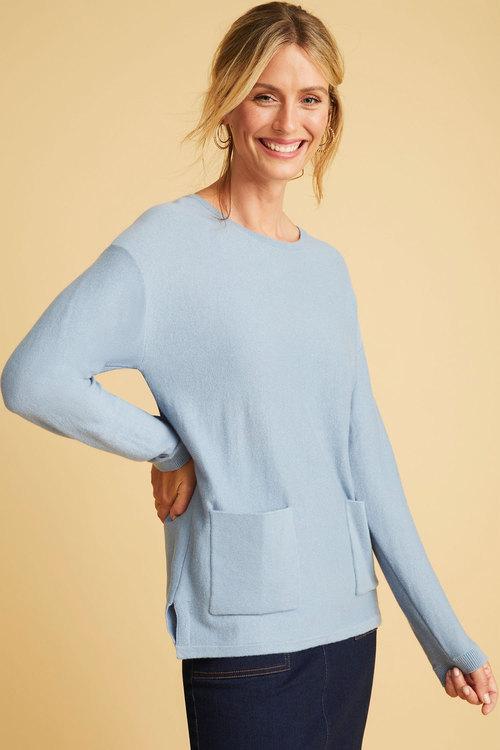 Capture Merino Boxy Pocket Sweater