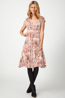 Capture Wrap Dress - 256892