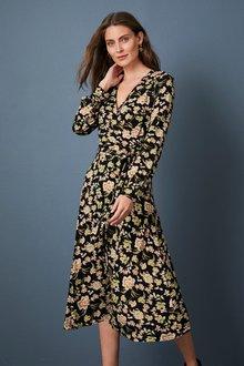 Capture Knit Wrap Dress - 256895