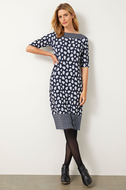 Capture Border Print Dress