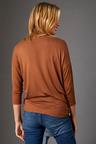 Capture V Neck Drop Shoulder Knit Top