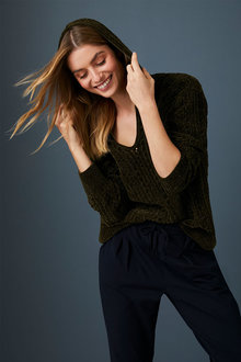 Capture Chenille Hooded Sweater - 256913