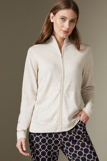 Capture Merino Full Zip Cardigan - 256917