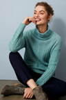 Capture Lambswool Cable Funnel Neck