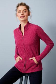 Capture Lambswool Full Zip Sweater - 256927