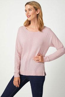 Capture Lambswool Dolman Sleeve Sweater - 256930