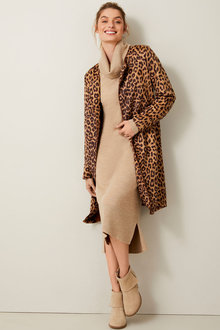 Capture Merino Cowl Neck Midi Dress - 256935
